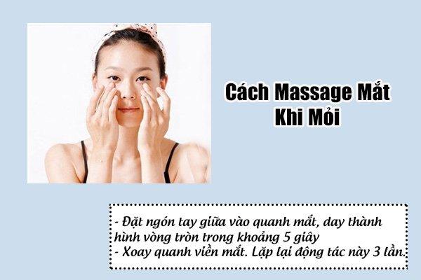 cách massage mắt khi mỏi,cách mát xa mắt khi mỏi ,mát xa vùng mắt ,massage vùng mắt