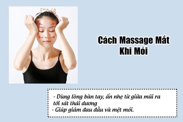 cách massage mắt khi mỏi,cách mát xa mắt khi mỏi ,mát xa vùng mắt ,massage vùng mắt,