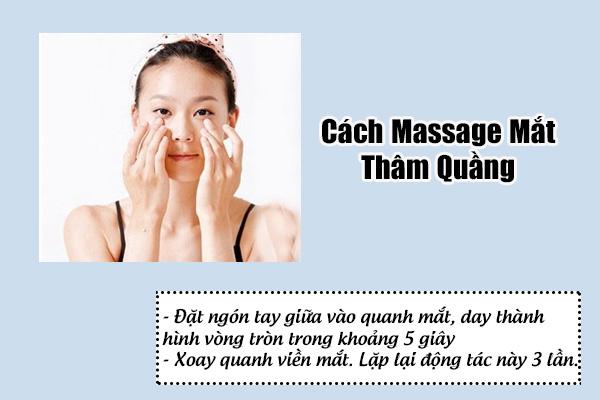 massage mắt thâm quầng