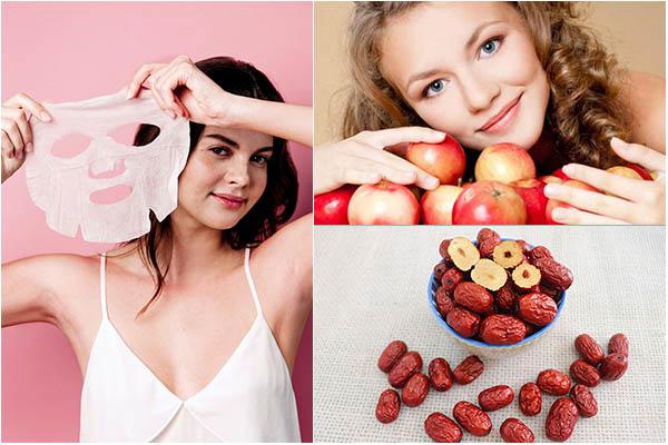 táo đỏ làm đẹp da, táo đỏ làm đẹp, làm đẹp với táo đỏ, làm đẹp từ táo đỏ, cách làm đẹp bằng táo đỏ, táo đỏ